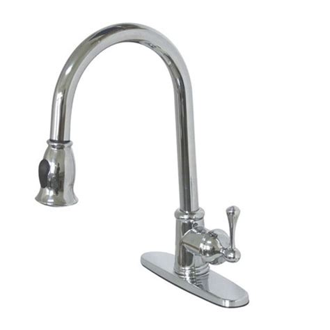 kingston brass single handle pull down kitchen faucet with kingston brass vintage gourmetier pull down single handle