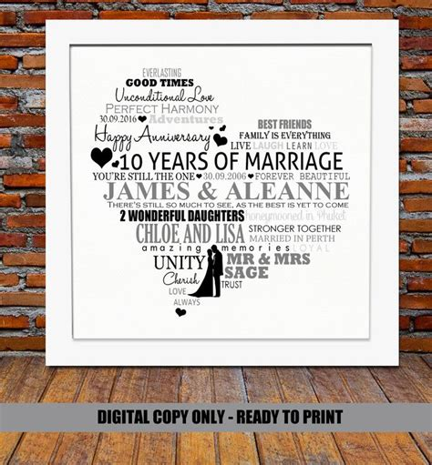 10 Year Wedding Anniversary Gift Ideas For - 25 best ideas about 10th anniversary gifts on