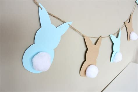 simple bunny easter garland honest to nod