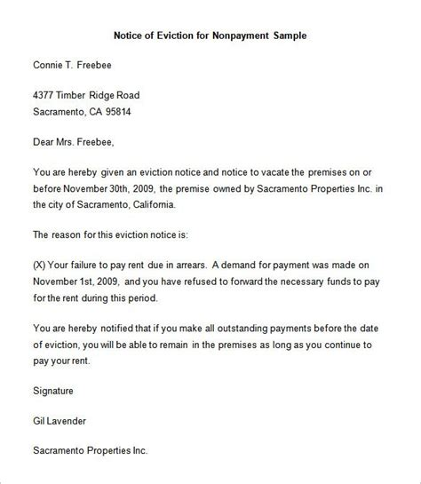 eviction notice template 37 free word pdf document