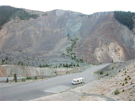 earthquake yellowstone blocked madison river canyon that is now earthquake lake