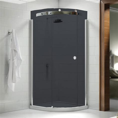 Smoked Glass Shower Doors Smoked Glass Shower Doors Prestige Matt Black 1200mm Sliding Shower Door 8mm Smoked Merlyn