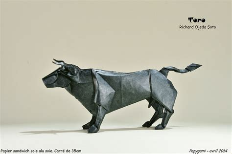 Bull Origami - are these origami animals awesome you bet giraffe they are
