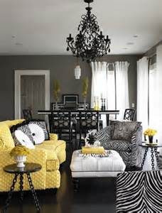 Grey And White Home Decor by Amazing Yellow Living Rooms