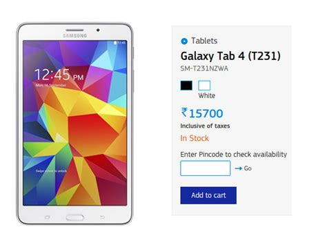 Samsung Galaxy Tab 4 Price samsung slashes prices of galaxy s5 galaxy s5 lte tab 4 and more in india gizbot