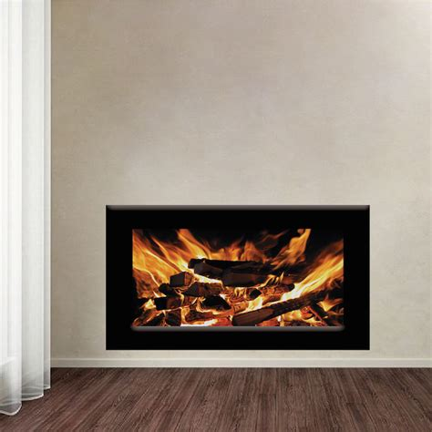 Fireplace Mural by Fireplace Wallpaper Decal Fireplace Wall Sticker Living
