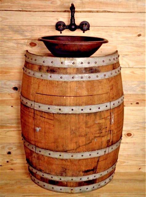wine barrel bathroom vanity rustic wine barrel bathroom vanity sink w antique 2