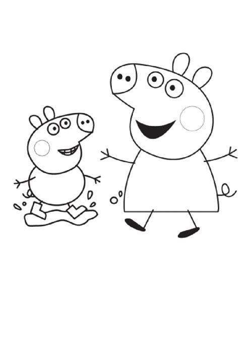 peppa pig para colorear colorear peppa pig imagenes de dibujos animados