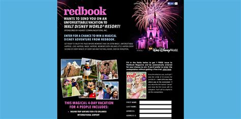 Redbook Com Sweepstakes - redbookmag com magicalvacay redbook unforgettable adventure sweepstakes