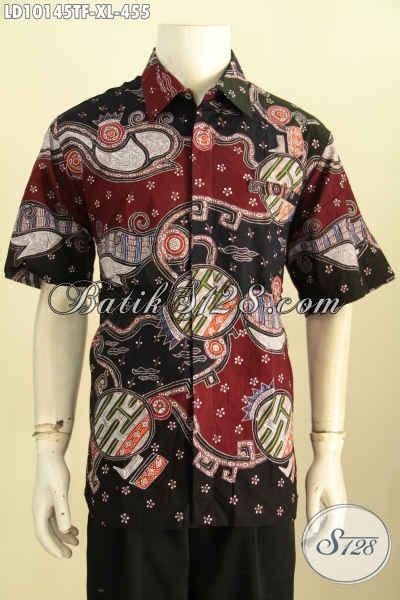 Baju Batik Pria Motif Kalijagalengan Pendek model baju batik pria lengan pendek motif unik tulis asli