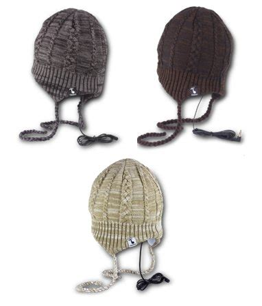 Tooks Beanies With Built In Headphones by Tooks Flapjac Headphone Hat With Built In Removable