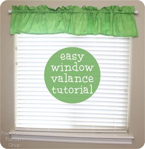 Valance Tutorial easy window valance tutorial peek a boo pages sew something special