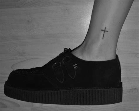 small cross tattoos on ankle 80 great cross tattoos for ankle