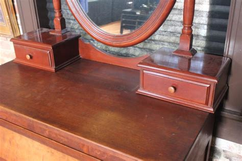antique vanity dresser with oval mirror antique cherry 4 drawer dresser with oval mirror