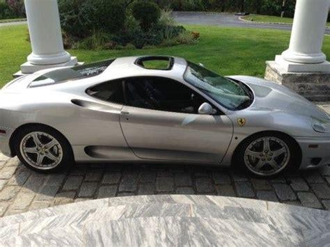 Ferrari 360 Sunroof by Purchase Used 2003 Ferrari 360 Modena Coupe F1 Silver Like