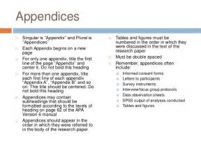 an example of appendix in apa format book chapter