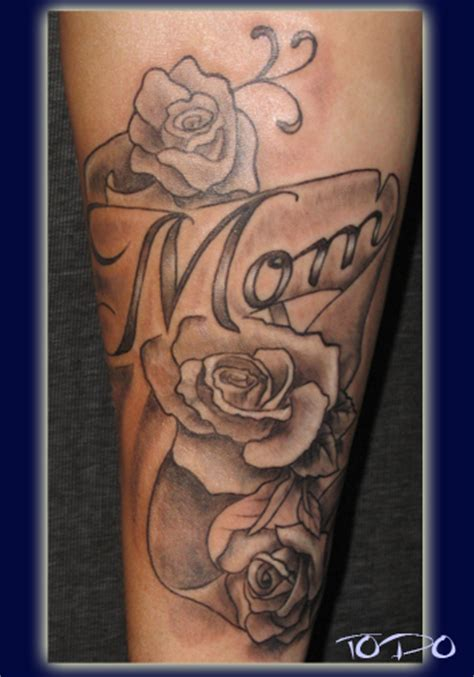 mom rose tattoos lettering tattoos and designs page 45