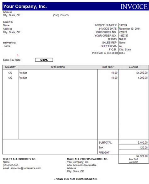 Invoice Template For Excel by Invoice Template Excel Free Free To Do List