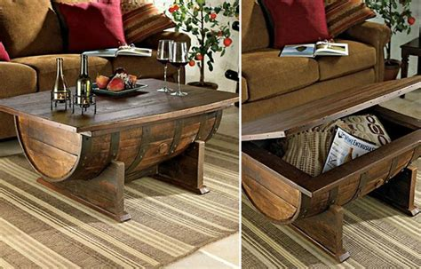 Handmade Vintage Whiskey Barrel Coffee Table Hiconsumption How To Make A Wine Barrel Coffee Table