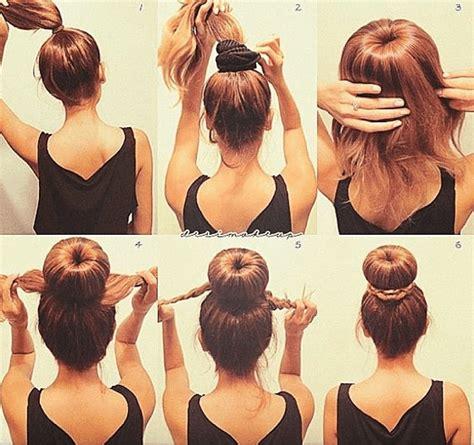diy sock hair bun 23 incredibly easy but fabulous diy hairstyle ideas