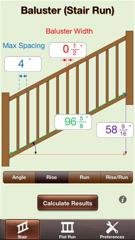Space Between Spindles Banister by Baluster Calc Elite Industry Leading Baluster And