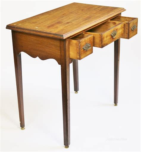 3 drawer side table george 111 mahogany 3 drawer side table antiques atlas