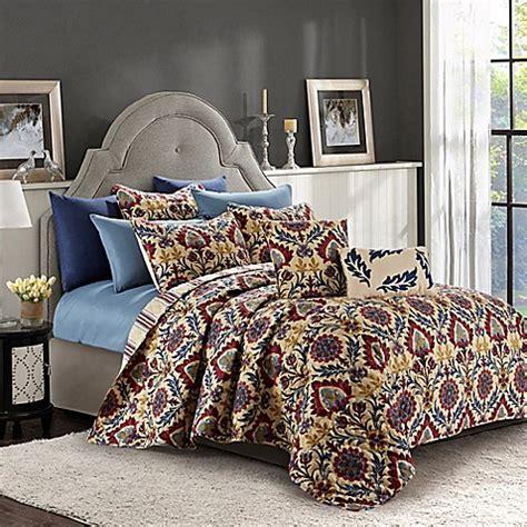 bed bath and beyond queens buy ridgewood reversible queen quilt set in rust blue from