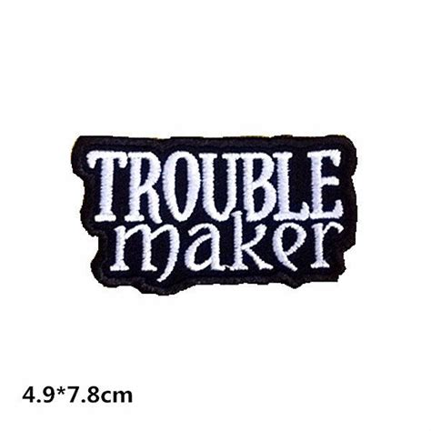 new to craftapplique on etsy trouble maker cool patch