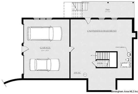 not shown on this plan but there is a 3 car garage in the