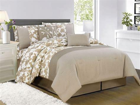 leila 10pc comforter set taupe 2 sizes