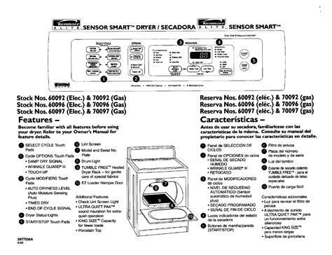 kenmore dryer wiring diagram manual 41797912701 47