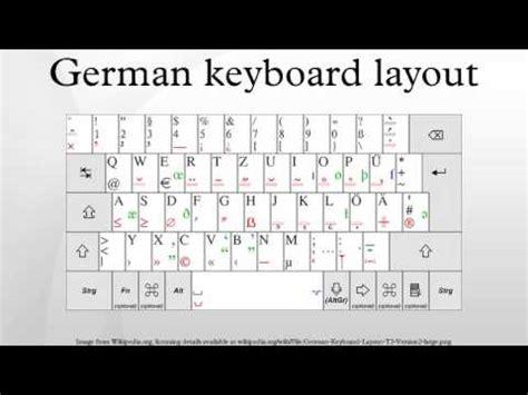 German Qwerty Keyboard Layout | german keyboard layout youtube
