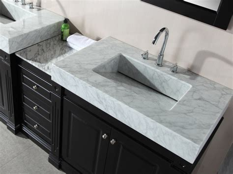 Integrated Bathroom Sink And Countertop by Custom Vanity Top With Integrated Sink Home Design Ideas