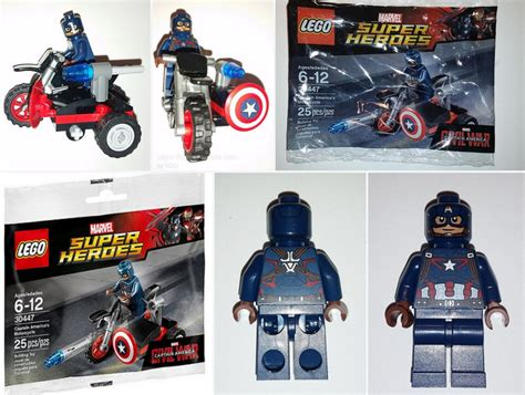 lego 30447 captain america s motorcycle polybag build found in the minifigure price