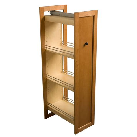 kitchen cabinet pullouts omega national tall pull out wood kitchen pantry