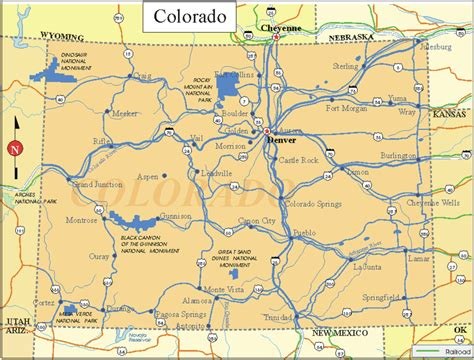 colorado state map free printable us state maps printable state maps