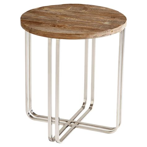 silver end table trose rustic industrial wood silver end table kathy kuo home