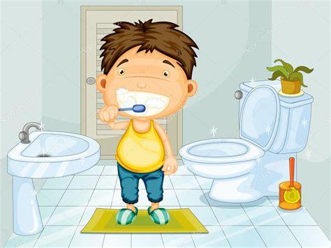 imagenes de niños lavandose los dientes boy brushing teeth stock vector 169 interactimages 10273063