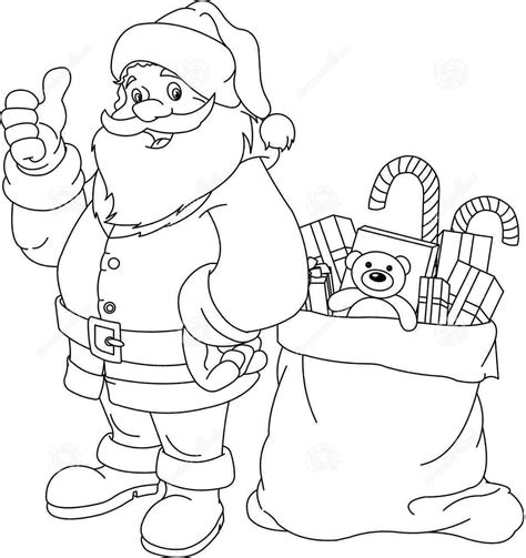 free coloring pages of santa