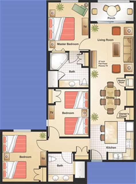 Bath Floor Plans by Floridays Resort International Drive Orlando Florida
