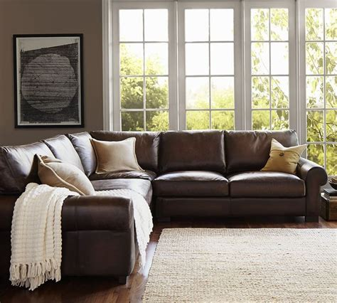 pottery barn leather sectional 25 best ideas about pottery barn sofa on pinterest