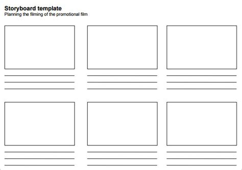 movie storyboard template 8 free sample example