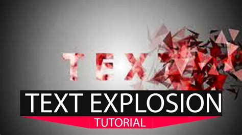 testo polly tutorial esplosione testo after effects pixel polly