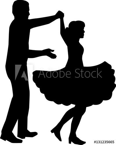 """""""Square dance silhouette"""" Stock image and royalty-free"""