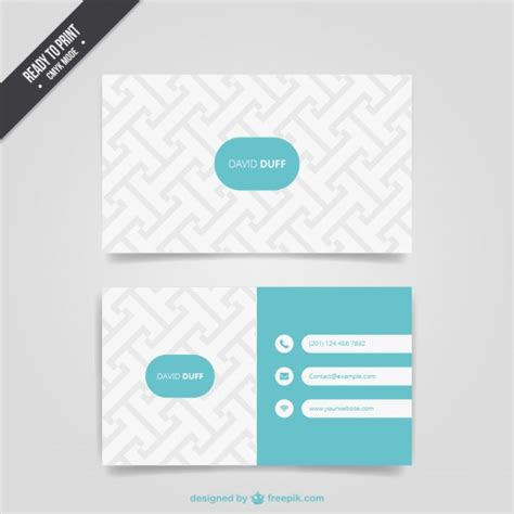 Pattern Name Card Vector | pattern business card vector free download
