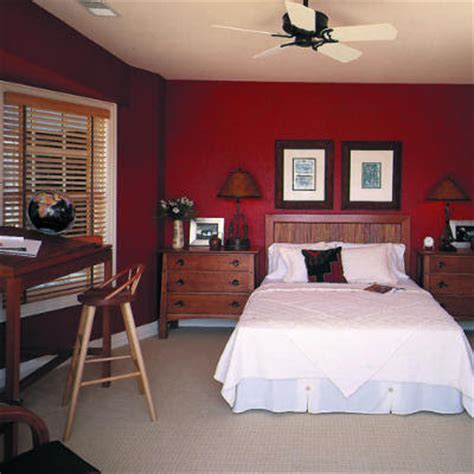 red wall bedroom palatial living interior shades of red colour styling