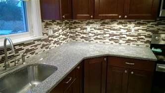 Mosaic Tiles Kitchen Backsplash Glass Mosaic Backsplash Sjm Tile And Masonry