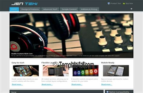 templates for blogger music free blue music technology joomla theme template download
