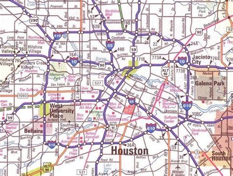 road map of houston texas large map of houston texas