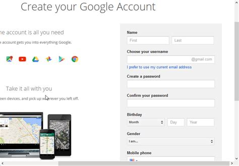 create account how to create a new gmail account start guide